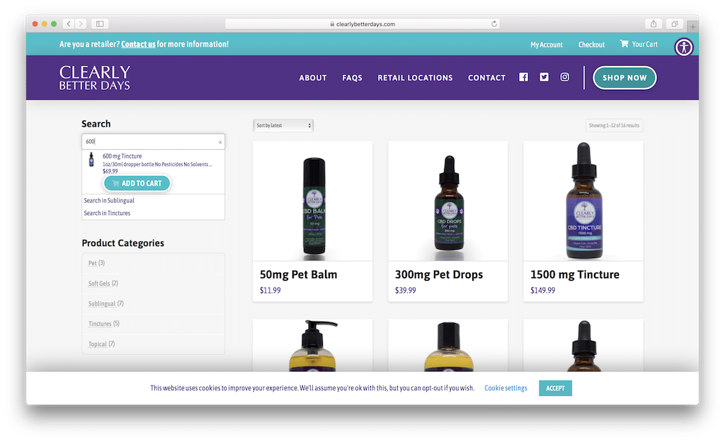 Clearly Better Days Autocomplete Product Search for WooCommerce